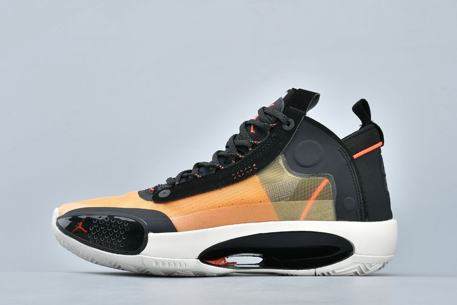 Chaussures Air Jordan 34 Amber Rise Black Orange Pas Cher Homme