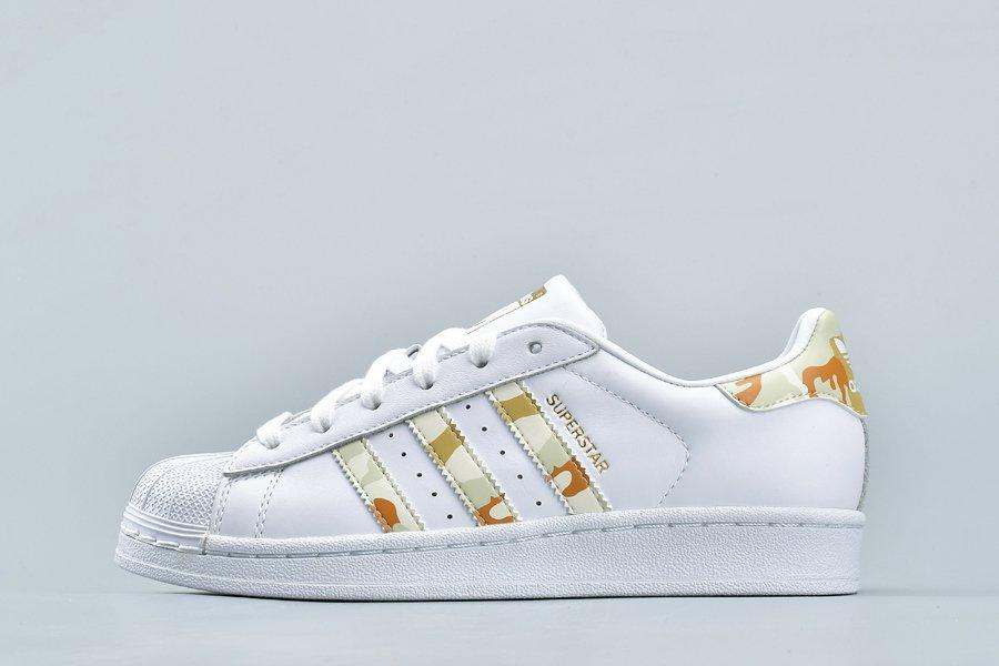 Comprar las Zapatillas adidas Superstar White Desert Sand Gold Online