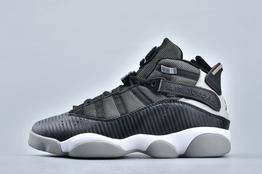 Jordan 6 Rings Carbon Fiber Black Medium Grey-White For Sale