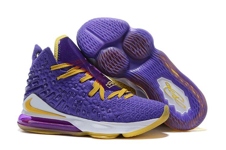 Mismatched Nike LeBron 17 Purple and Yellow Cheap Sale