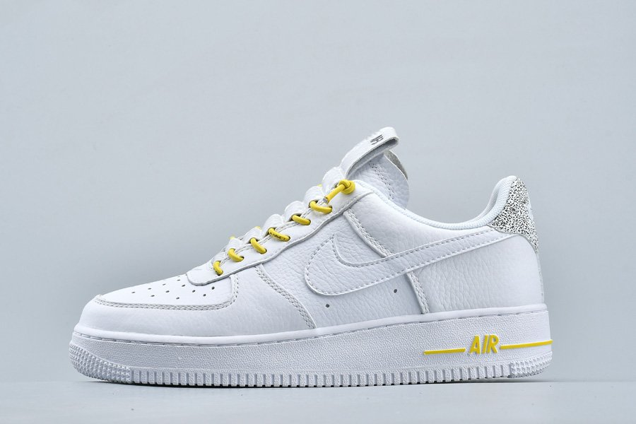 Nike Air Force 1 07 LX White Chrome Yellow-Black 898889-104 For Sale