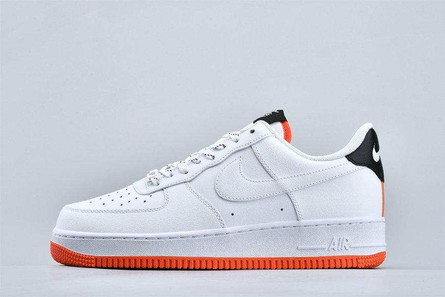 Nike Air Force 1 07 NY v NY White Black-Orange Peel CJ5848-100 Outlet