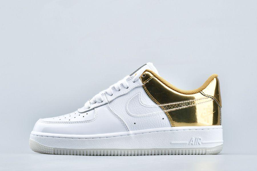 Nike Air Force 1 07 PRM Shanghais Golden Era White Gold CU2991-197 For Sale