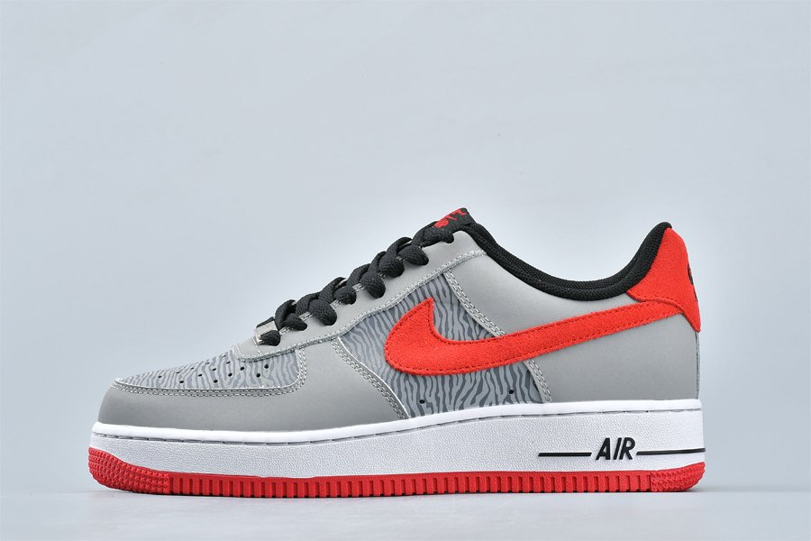 Nike Air Force 1 Low Reflect Silver University Red-Silver Restock
