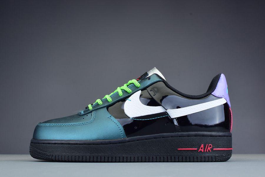 Nike Air Force 1 Vandalized Iridescent Joker Black Green CT7359-001 Sale