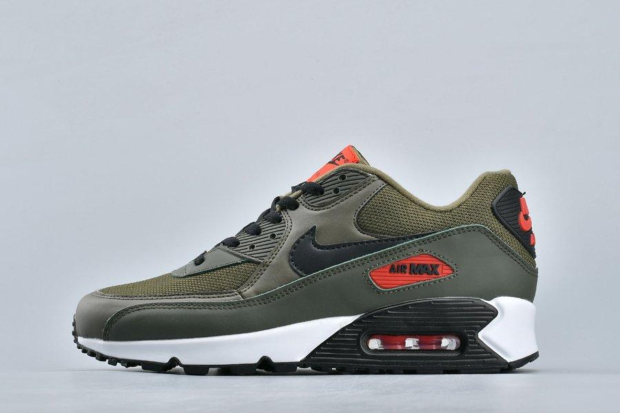 Nike Air Max 90 Essential Olive Black Team Orange AJ1285-205 For Sale