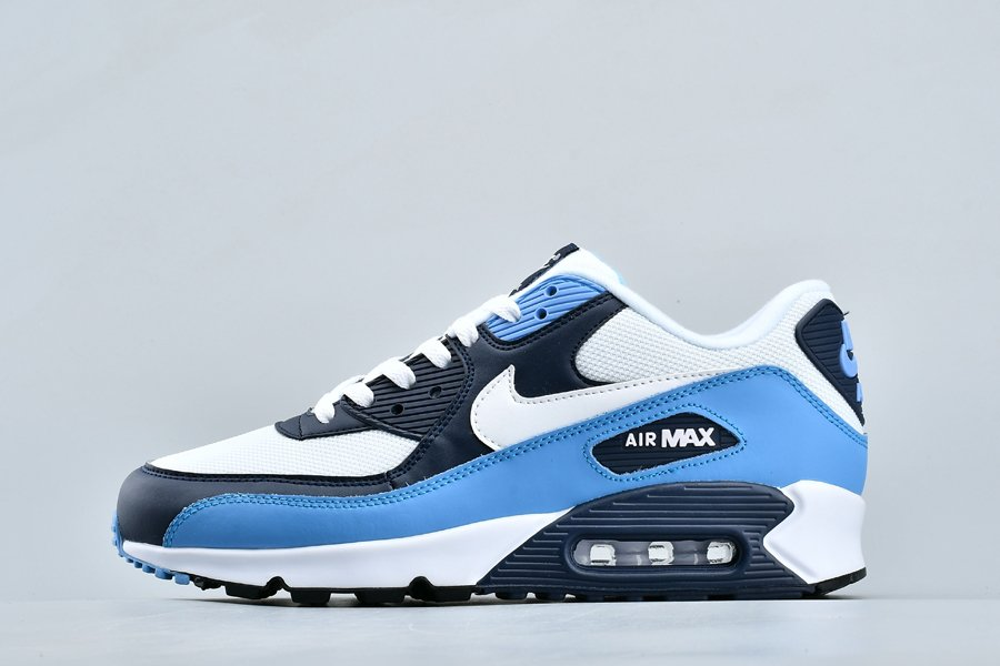 Nike Air Max 90 Essential UNC White University Blue Navy On Sale