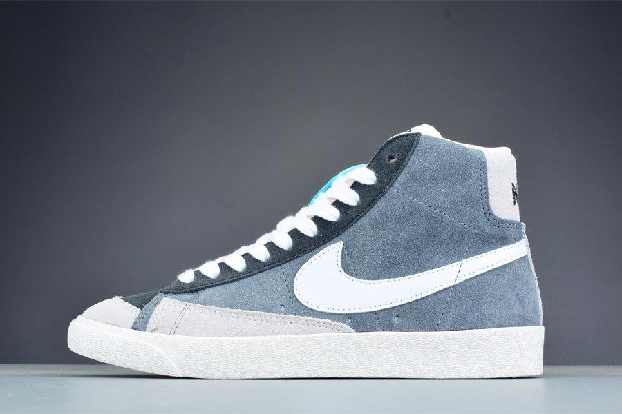 Nike Blazer Mid 77 Vintage Monochrome Cool Grey Suede For Sale
