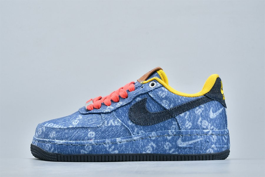 Nike By You x Air Force 1 Low Levis Denim CV0670-447 For Sale