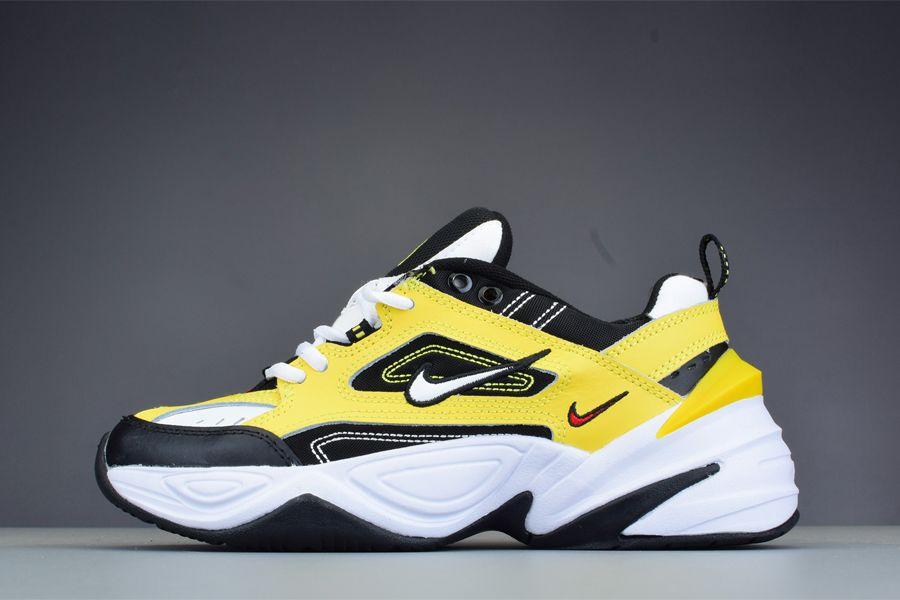 Nike M2K Tekno Yellow Black White Retro Chunky Sneaker Soldes
