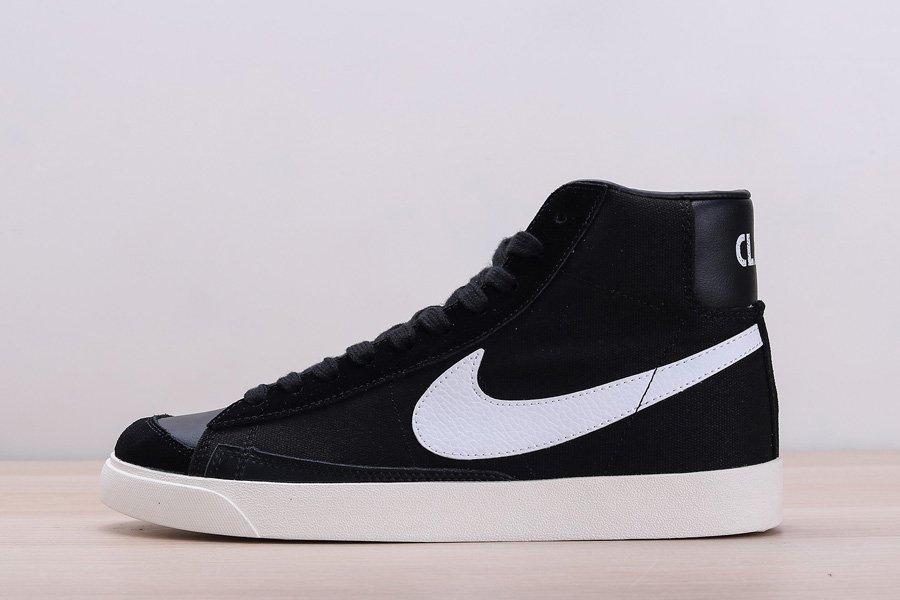 Slam Jam x Nike Blazer Mid Class 77 Upside Down Swoosh In Black