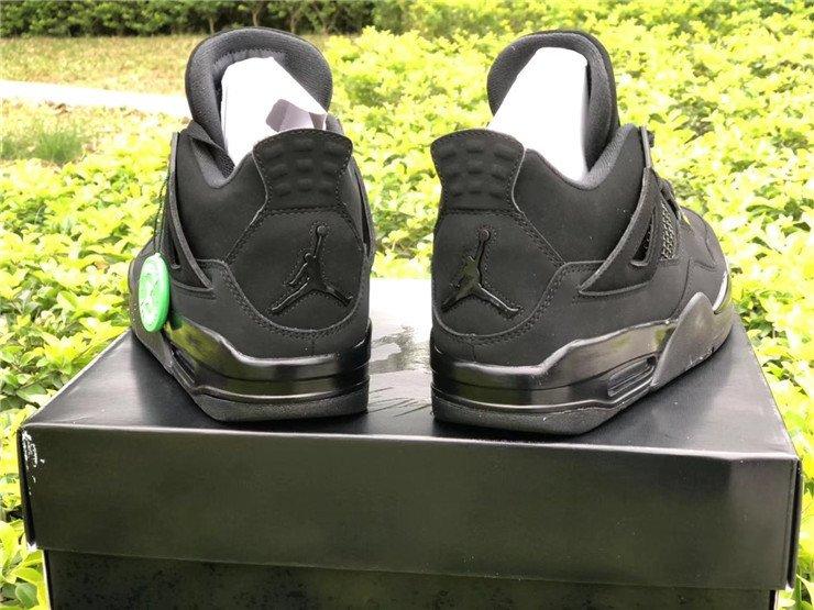 2020 Air Jordan 4 Black Cat Heel