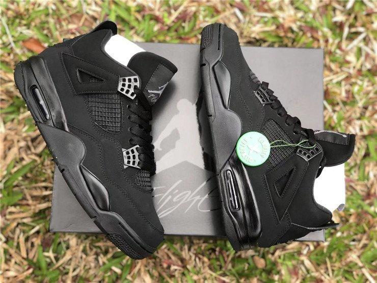 2020 Air Jordan 4 Black Cat Top
