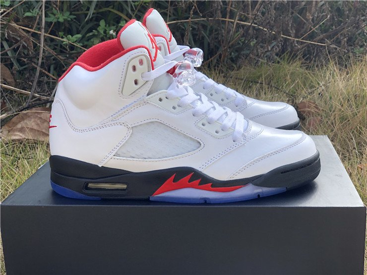 2020 Air Jordan 5 Fire Red With 3M Silver Tongue For Sale