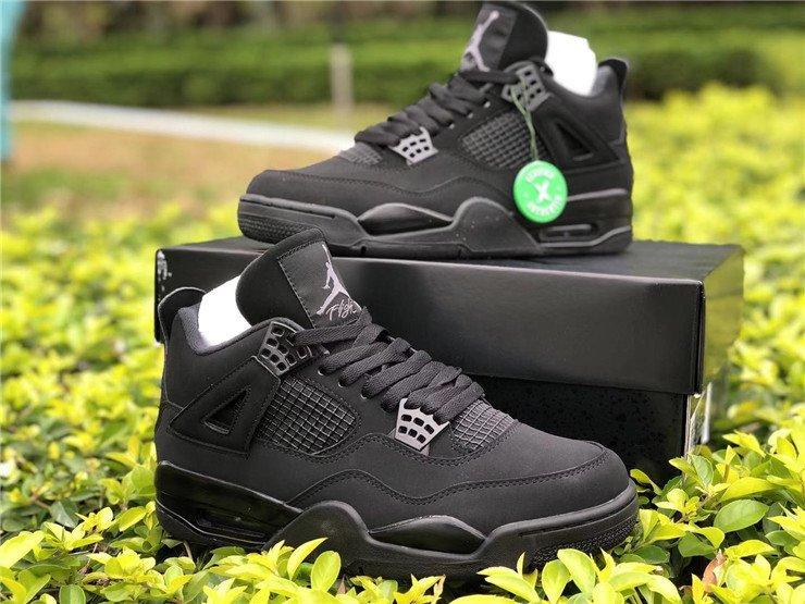 Air Jordan 4 Black Cat CU1110-010 Pair