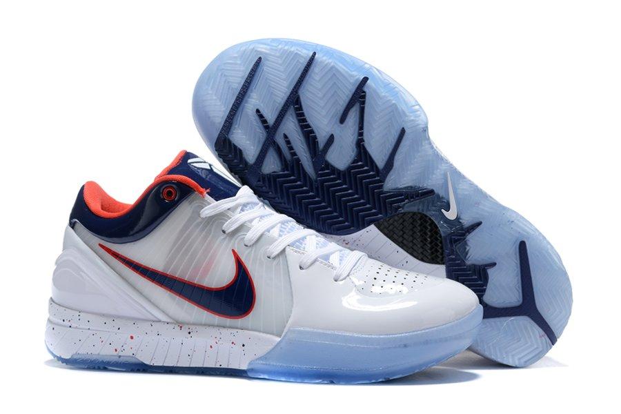 Buy Nike Zoom Kobe 4 Protro USA White Obsidian-University Red