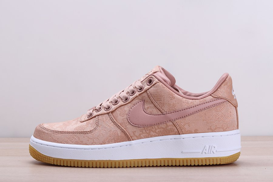 CLOT x Nike Air Force 1 PRM Rose Gold Silk 2020 For Sale