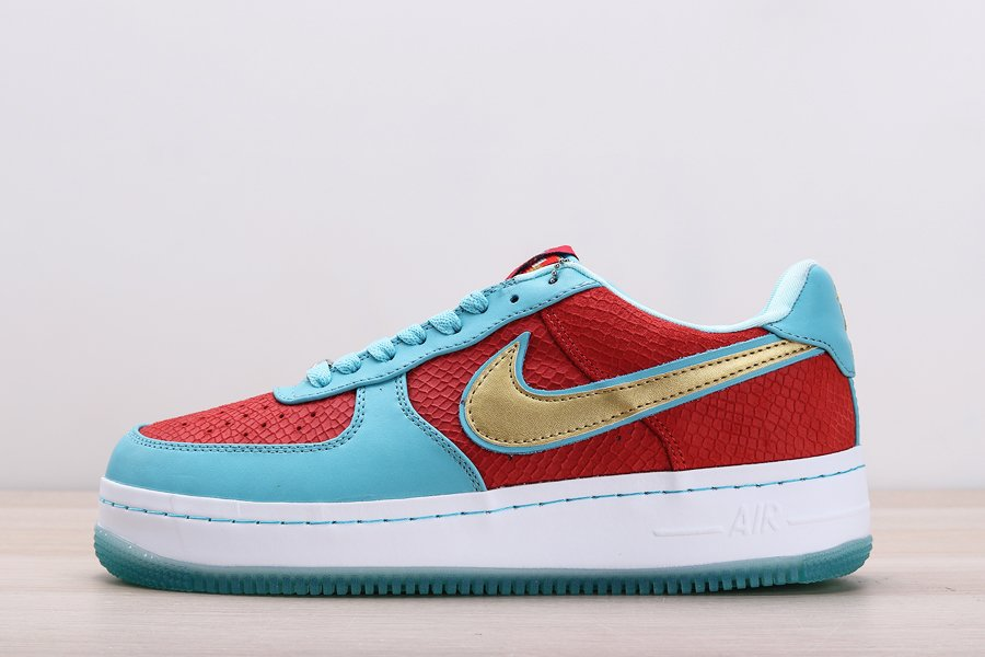 Nike Air Force 1 Low Year of the Dragon 2 Blue Red Gold Restock