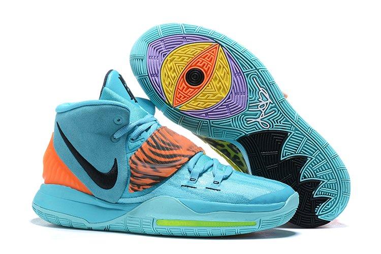 Nike Kyrie 6 Animal Print Blue Orange For Sale