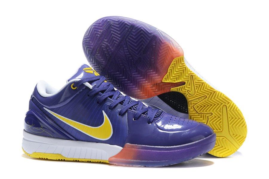 Nike Zoom Kobe 4 Protro Lakers Away PE Purple Yellow For Sale