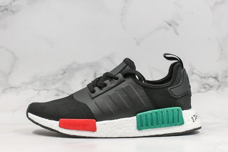 adidas NMD R1 Core Black Glory Green-Lush Red EF4260 For Sale