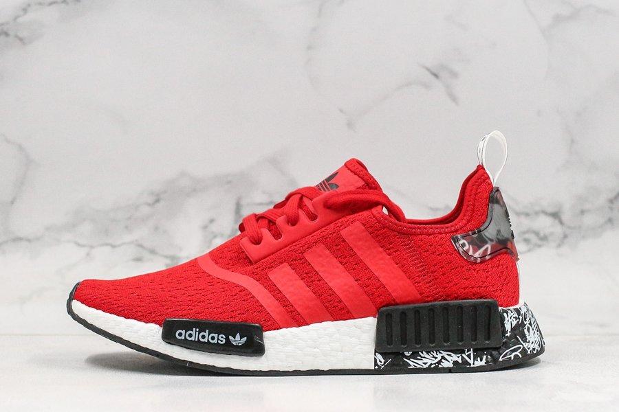 adidas NMD R1 Graffiti Red Black EG7581 For Sale