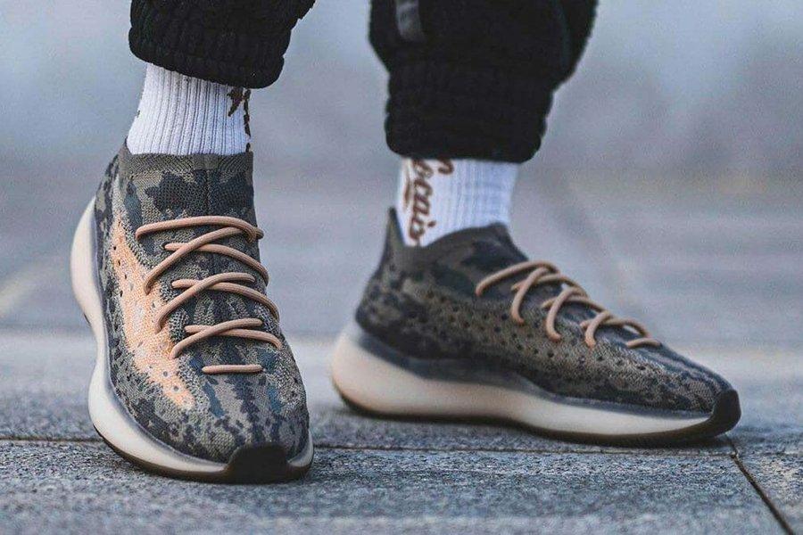 adidas Yeezy Boost 380 Mist Non-Reflective On Feet