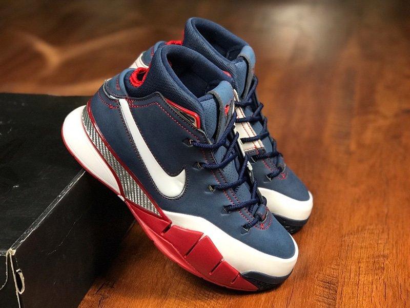 Buy Nike Kobe 1 Protro USA Midnight Navy White-Varsity Red Online