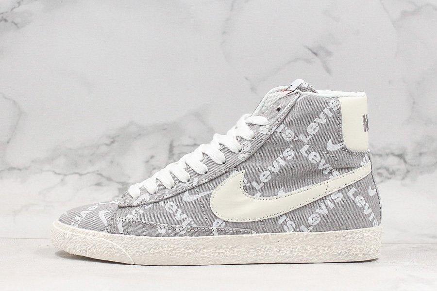 Levis x Nike SB Zoom Blazer Mid QS Grey White To Buy