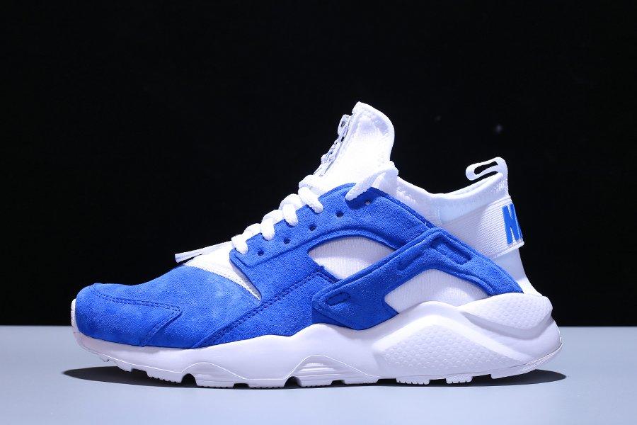 Nike Air Huarache Run Ultra Suede Royal Blue White On Sale
