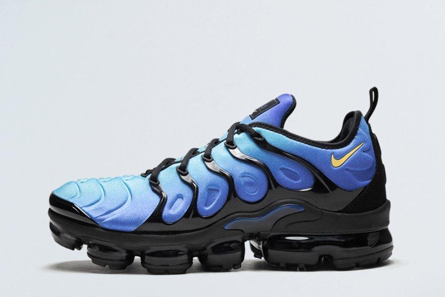 Nike Air VaporMax Plus Black Hyper Blue 924453-008 For Sale