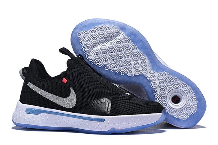 Nike PG 4 Black White-Light Smoke Grey For Sale
