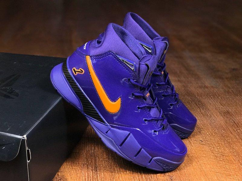 Nike Zoom Kobe 1 Protro Devin Booker PE Purple Orange For Sale