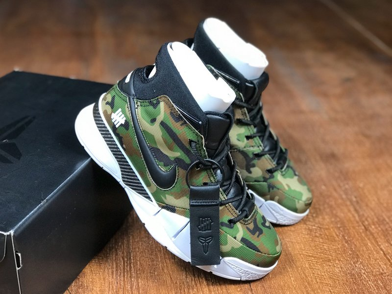 Undefeated x Nike Zoom Kobe 1 Protro Green Camo On Sale