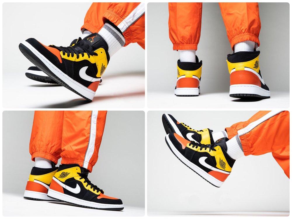 Air Jordan 1 Mid Raygun On Feet