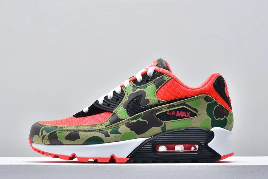 Atmos x Nike Air Max 90 Reverse Duck Camo Infrared Black To Buy