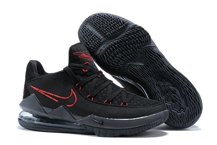 Buy Nike LeBron 17 Low Bred Black University Red-Dark Grey
