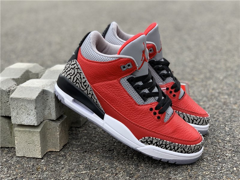 Chicago All-Star Air Jordan 3 Retro SE Unite Fire Red Cement Grey For Sale