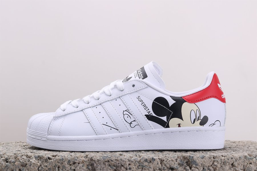 Mickey Mouse x adidas Superstar Footwear White Core Black For Sale