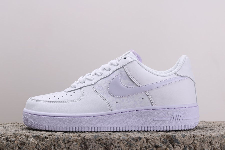 Nike Air Force 1 07 White Barely Grape CU3449-100 For Sale