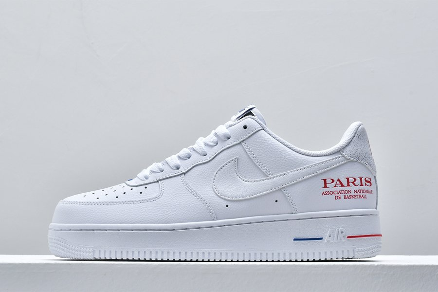 Nike Air Force 1 Low NBA Paris Game 2020 White For Sale