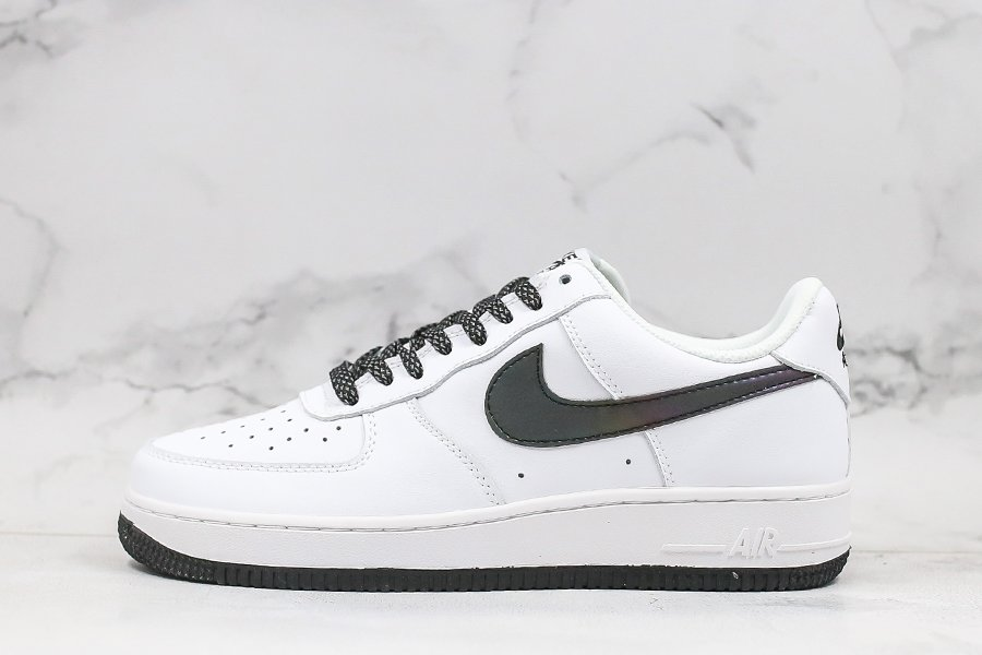 Nike Air Force 1 Low White Static Black 3M Reflective Outlet