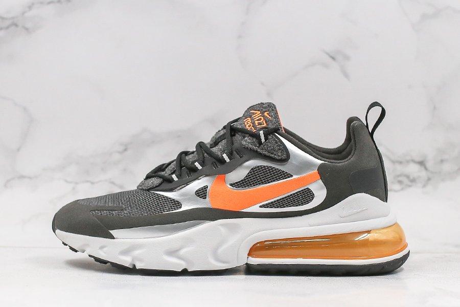 Nike Air Max 270 React Black Total Orange CQ4598-084 For Sale