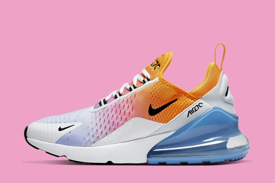Nike Air Max 270 Wmns Summer Gradient Gold Black Blue For Sale
