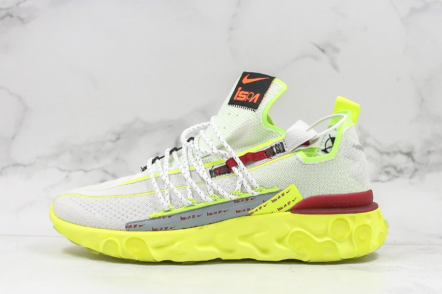 Nike React Runner ISPA Pure Platinum Volt CT2692-002 For Sale