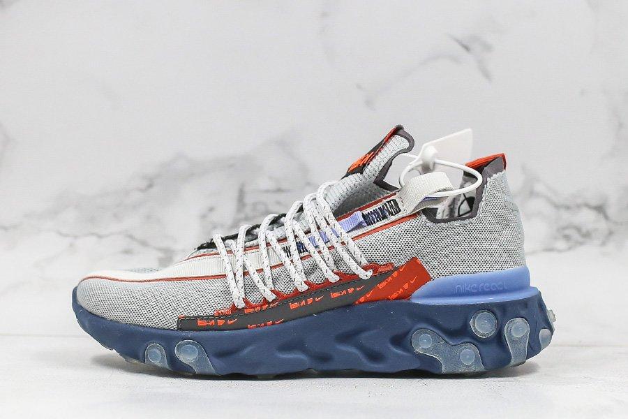 Nike React Runner ISPA Wolf Grey Sapphire-Dusty Peach On Sale