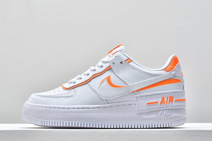 Nike WMNS Air Force 1 Shadow White Total Orange For Sale