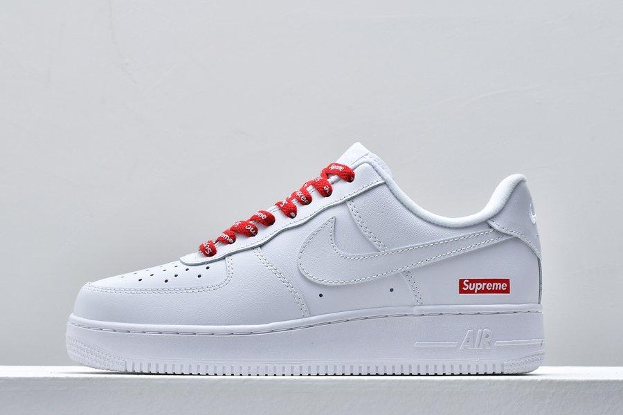 Supreme x Nike Air Force 1 Low 2020SS Box Logo White