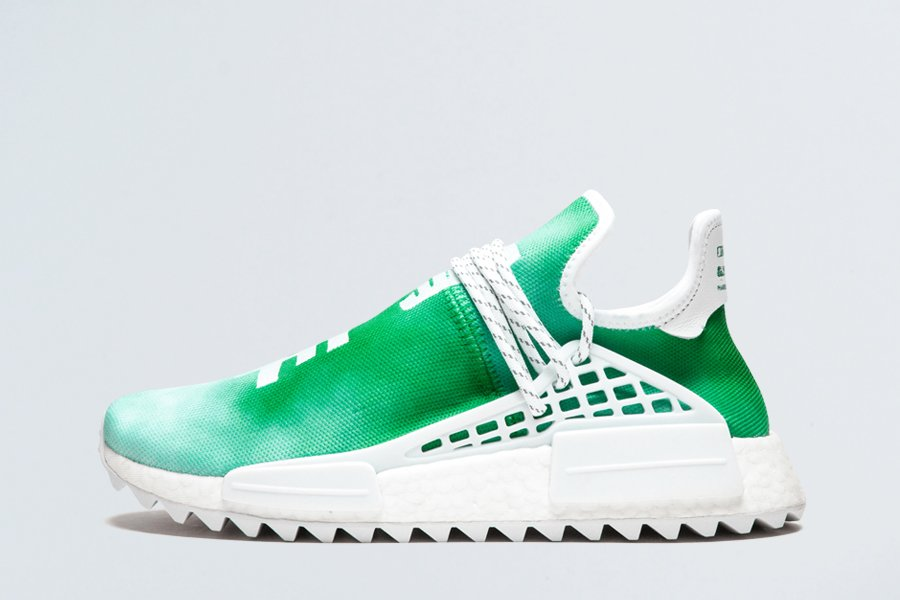 adidas By Pharrell Williams PW HU Holo NMD MC Youth Green F99760 For Sale