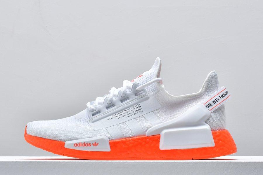 adidas NMD_R1 V2 White Orange FX3902 For Sale
